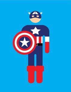 Captain America Pictogram by ~WPilgrim on deviantART