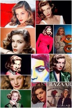 """""""I think your whole life shows in your face, and you should be proud of that."""" Lauren Bacall (1924-2014)"""