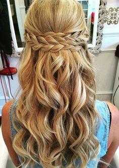 Peinado sencillo con trenzas