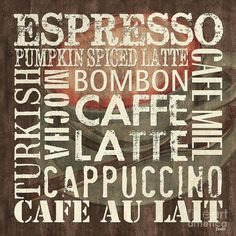 Coffee sign for the kitchen
