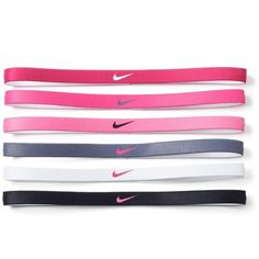 Nike 6-pk. Solid Sport Headband Set ($10) ❤ liked on Polyvore featuring accessories, hair accessories, beige over, sports headbands, headband hair accessories, nike hairband, hair band headband and head wrap hair accessories