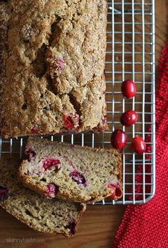 Banana Cranberry Bread | Skinnytaste Try it with blueberries instead and make muffins instead of a loaf