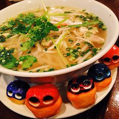 Yum yum  Pho! #mizumushikun #pho #Vietnam #meal #food #foodie #nom #nomnom #yummy #yum #asian #healthy #ricenoodle #character #funny #fun #vscocam