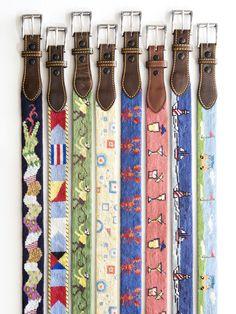 i <3 needlepoint belts