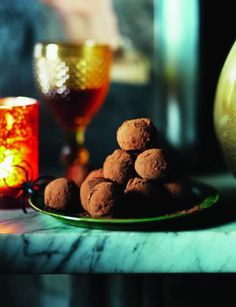 Chili Ginger Chocolate Truffles Recipe - I think a foodie would appreciate these next to all the not so special baked goods around during the holidays
