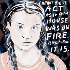 Kate Anderson illustration Greta Thunberg School strike for climate action, Protest Posters, Protest Signs, Save Our Earth, Save The Planet, School Strike, Climate Action, The Victim, Global Warming, Worlds Of Fun