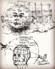 Skizze - Pathfinder. Digitale Bildmontage. Markus Wintersberger 1994  #pathfinder #bodybox #bodyframes #skizze #drawing #1994 #dieangewandte #panorama #markuswintersberger