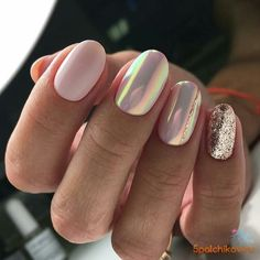 The advantage of the gel is that it allows you to enjoy your French manicure for a long time. There are four different ways to make a French manicure on gel nails. The choice depends on the experience of the nail stylist… Continue Reading → Gorgeous Nails, Love Nails, Pink Nails, Glitter Nails, My Nails, Pink Glitter, Matte Nails, Pink Chrome Nails, Stylish Nails