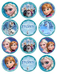 http://patyshibuya.com.br/category/frozen/ FESTA FROZEN ELSA ANNA OLAF topper_frozen_cake_cupcake_elsa_anna_27