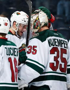 Congrats to Minnesota Wild goalie Darcy Kuemper on this first NHL shutout.