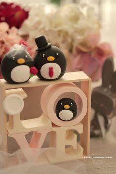 Pastel de cumpleaños de pingüinos