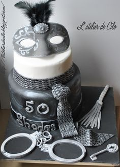 L'atelier de Cilo: Gâteau « 50 nuances de Grey » / « Fifty Shades » Cake