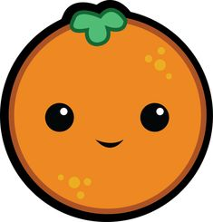 laranjinha fofa festa tema laranja Cute Food Drawings, Art Drawings For Kids, Cute Kawaii Drawings, Easy Drawings, Art For Kids, Kawaii Doodles, Funny Fruit, Cute Fruit, Kawaii Illustration