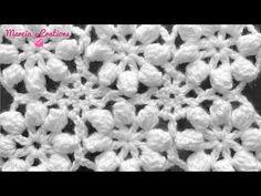 crochet puntada flores popcorn sin costura flowers without seam Unique Crochet, Love Crochet, Learn To Crochet, Crochet Motif, Beautiful Crochet, Easy Crochet, Crochet Puff Flower, Crochet Flower Patterns, Crochet Stitches Patterns