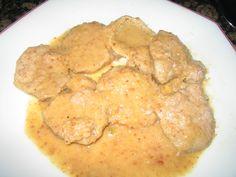 solomillo con salsa de almendras