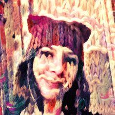 Wearing a hand knitted kitty hat styled with a photo of a knitted scarf! Crafty style Pikazo selfie art. . . . #pikazoapp #pikazo #neuralart #neuralstyle #artapp #photoapp #instart #artstagram #craftygram #knitting #handknittihg #crafty #selfie #freeapp