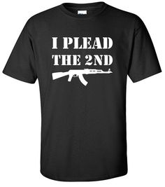Gun Rights  I Plead the 2nd  Second Amendment  Red White
