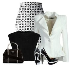 Look con peplum blazer Office Fashion, Work Fashion, Fashion Outfits, Womens Fashion, Fashion Trends, Fashion Beauty, White Outfits, Classy Outfits, Cool Outfits