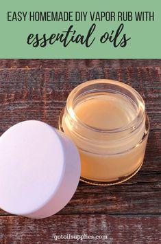 Easy Homemade DIY Vapor Rub Essential Oils gotoilsupplies.com #GotOilSupplies #doTERRA #YoungLiving #DIYVaporRub #DIYChestRub