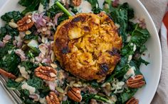 <p>The spices in these patties is mild, but with pumpkin, apple, and kale, they don't skimp on flavor! </p>