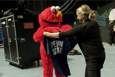 """Penn State Takes Down A Photo Of Elmo Being Given A PSU T-Shirt - example of the pitfalls of """"evergreen"""" content online"""