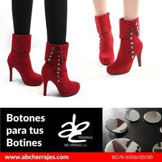 #Botones para tus #Botines. Todos los #Herrajes para #Calzado están en #ABCHerrajes. #Moda #Vanguardia #FelizFinDeSemana #FelizPuente  Nos puedes encontrar en: #Bogota: Calle 74A # 23-25 / Tel: 2115117 #Medellin: Diagonal 74B # 32-133 / Tel: 3412383 #Barranquilla: Cra. 52 # 72-114 C.C. Plaza 52 / Tel: 3690687 Visítanos en: www.abcherrajes.com