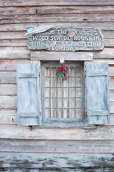 The Oldest wood school house in the USA, St Augustine, Florida