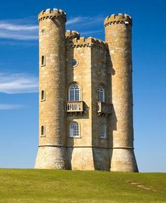 Little castle with towers Cotswold, England
