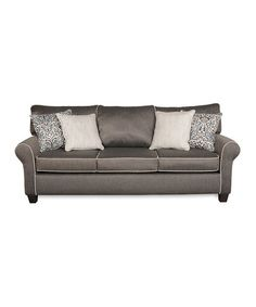 Love this Charcoal Casey Three-Seat Sofa on #zulily! #zulilyfinds