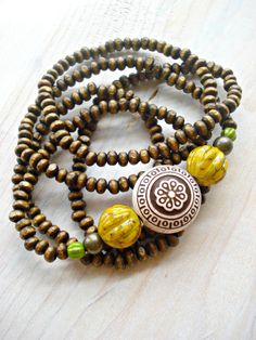 Yoga Bracelet  Hippie Bracelet  African by HandcraftedYoga on Etsy, $26.00
