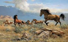 Distant Thunder-Horses by Persis Clayton Weirs  |  Wild Wings