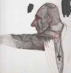 ritratto di Balthus . esercizio a penna