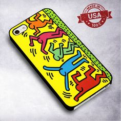 Keith Haring Pop Art - For iPhone 4/ 4S/ 5/ 5S/ 5SE/ 5C/ 6/ 6S/ 6 PLUS/ 6S PLUS/ 7/ 7 PLUS Case And Samsung Galaxy Case