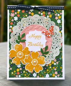 Krystal's Cards: Stampin' Up! Honeycomb Flower Shop Fundraiser Cards and August Stamp Class #stampinup #krystals_cards #birthdaycard #sendacard #cardmaking #papercrafts #handstamped
