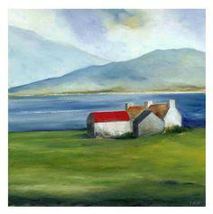 Padraig McCaul's Art Blog: 'West Cork Homestead' - A New Painting For The London Affordable Art Fair