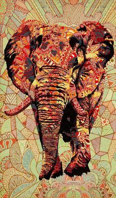 Hippie Love <3 Elephants represent power, stability, family and companionship like no other animal. AND they can do self-portraits! The Hippy Bloggers love elephants! :) via | Hippies Hope Shop