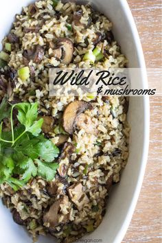 This dish makes a wonderful addition to almost any meal during the colder months. It is warm, hearty, and definitely what I would call a comfort dish! Cooking the rice in a stock, instead of water, give the rice more depth and flavor. I prefer to use a no-chicken stock, the flavor reminds me a chicken and rice casserole my mom made growing up.