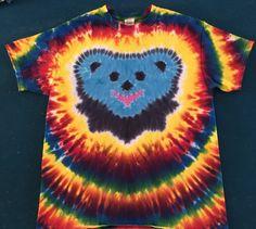 Grateful Bear Tie Dye Shirt Tye Die FREE SHIPPING by TyeDyeHouse