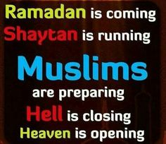 Ramadhan is getting closer; such excitement!