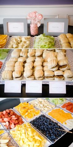 Burger Bar!!! We've done this at a few parties at our place, but never this glamorous . By Cobblestone Rue Blog
