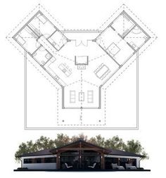 Modern House Plan, Home Plan, Floor Plan from ConceptHome.com