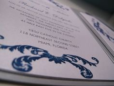 Silver and Teal Wedding Invitation - Paper goods by Le Petit Papier - www.lepetitpapierbymonica.com