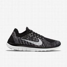 buy popular af829 c104f  106.99 nike free flyknit 4.0 grey,Nike Womens Black Wolf Grey Dark  Grey White Free 4.0 Flyknit Running Shoe