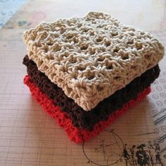 crochet wash cloths-one of my most fav things...my first crochet project
