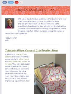 Great fabrics for home decor & a simple tutorial for pillow cases.  Super simple way to brighten up a guest or master bedroom!