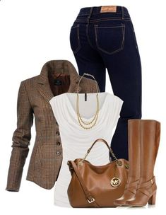 winter outfits jeans Liked the style and fit of th - winteroutfits Winter Outfits For Work, Fall Outfits, Casual Outfits, Outfit Winter, Polyvore Winter Outfits, Casual Jeans, Jeans Fit, Jeans Style, Summer Outfits