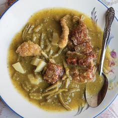 Sopa de Nopal (Nopales and Tomatillo Stew) | SAVEUR