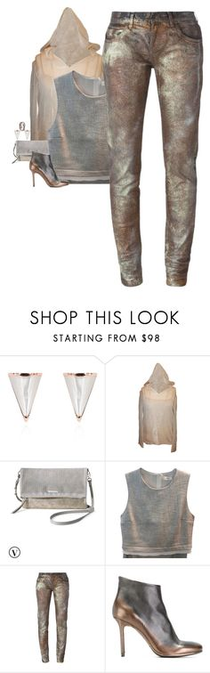 """""""Faith Connexion - Distressed Metallic Jeans Style"""" by influentialstyle ❤ liked on Polyvore featuring Sarah Magid, Chanel, Stella & Dot, A.L.C., Faith Connexion, Officine Creative and Bulgari"""