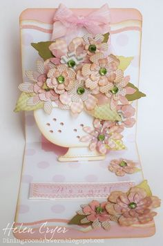 Helen Cryer as the Dining Room Drawers using TH and Sizzix products to makea pop 'n cuts card, March 2013