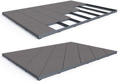 Terrassenplatten verlegen mit Profilsystem